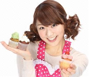 松村未央とカップケーキ
